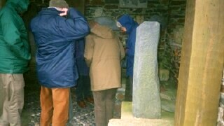 Crowding in to look at the crosses